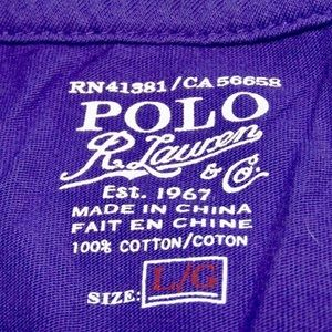 Polo by Ralph Lauren Shirts - Purple short sleeve Polo t-shirt